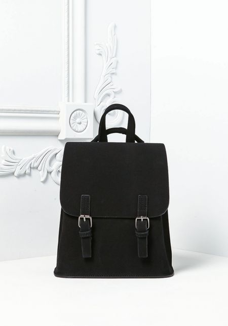 Black Messenger Backpack