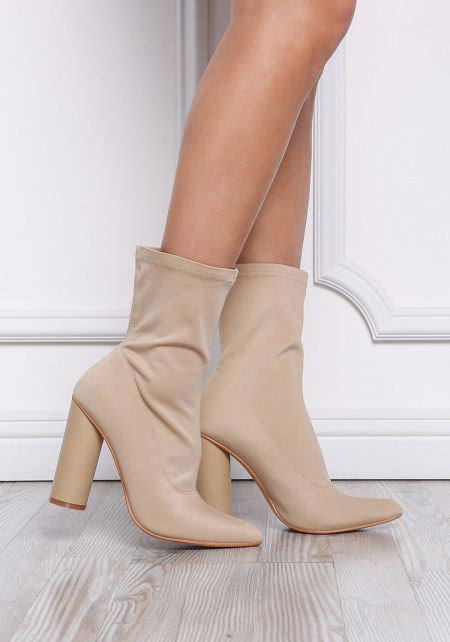 Nude Sock Ankle Boots