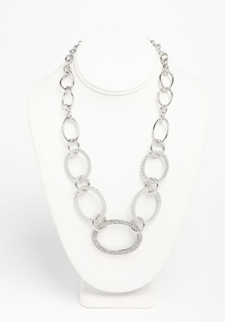 Silver Lobster Clasp Chain Necklace