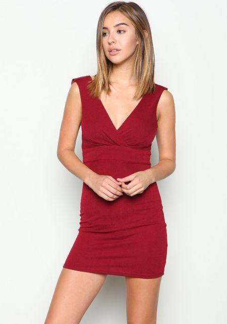 Chiffon Cowl Bodycon Dress