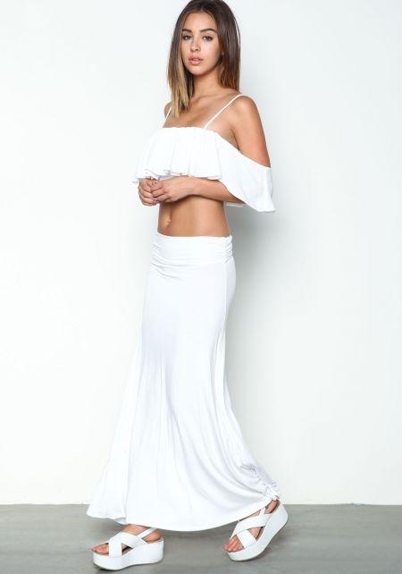 White Vacay Maxi Skirt