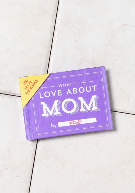 Purple What I Love About Mom Book