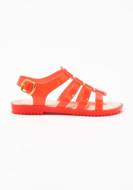 Coral Jelly Sandals
