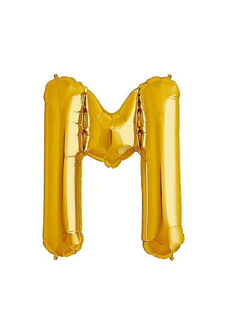 M Xtra Large Gold Foil Balloon
