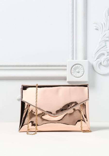 Rose Gold Chrome Clutch