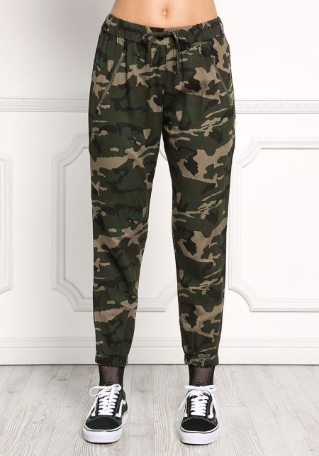 Camouflage Mid Rise Jogger Pants