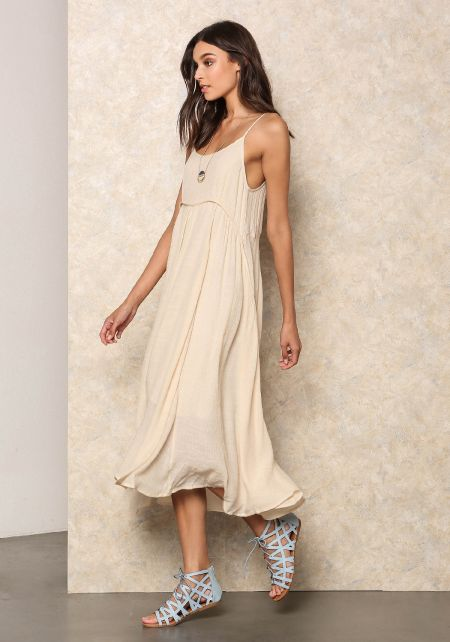 Natural Loose Cami Dress