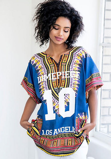 Dimepiece Blue Dashiki Dress