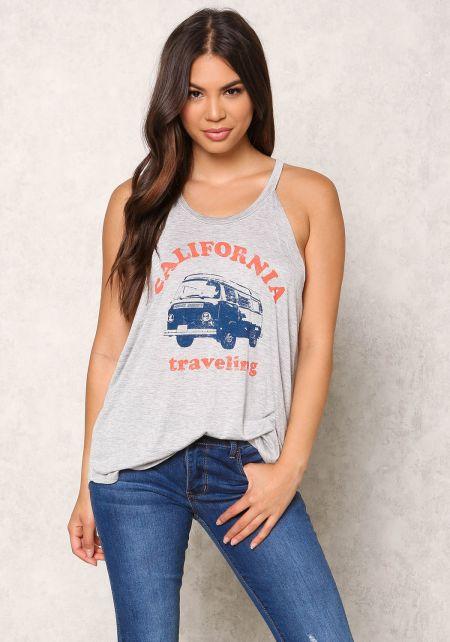Heather Grey California Traveling Tank Top