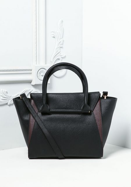 Black Vegan Leatherette Tote Bag