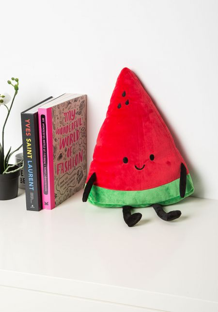 Red Watermelon Plush Pillow