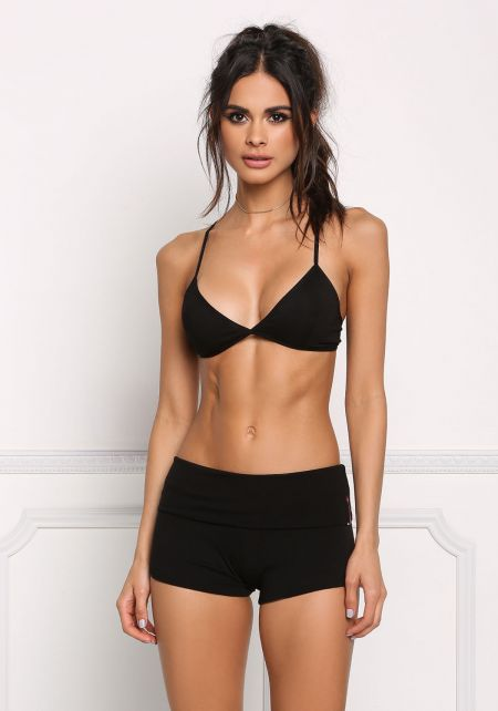 Black Yoga Stretch Shorts