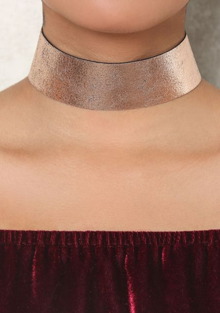 Rose Gold Metallic Choker