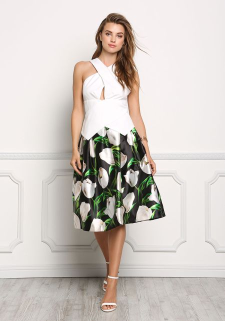 Off White Overlap Pointed Blouse