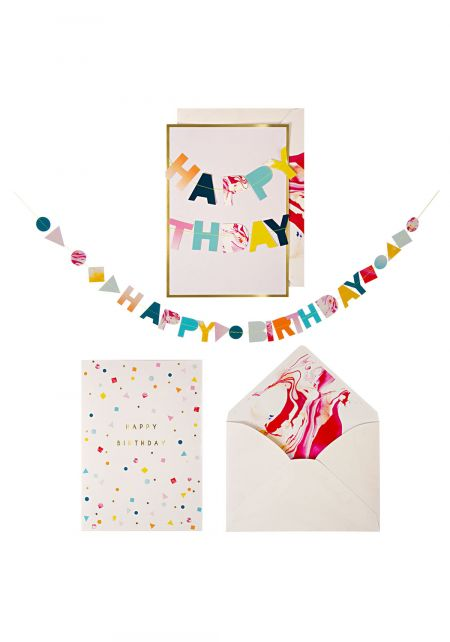 Happy Birthday Card with Banner