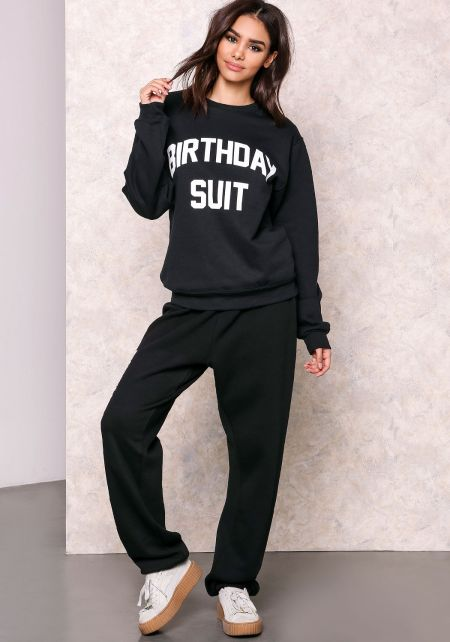 Private Party Birthday Suit Graphic Sweater
