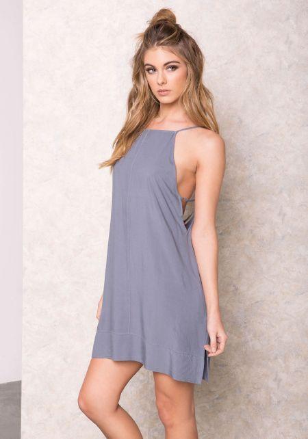 Blue  Swing Strappy Slip Dress