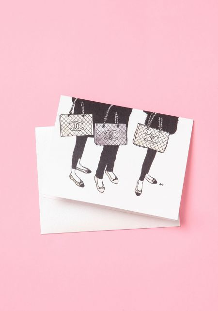 Designer Bags and Shoes Blank Greeting Card