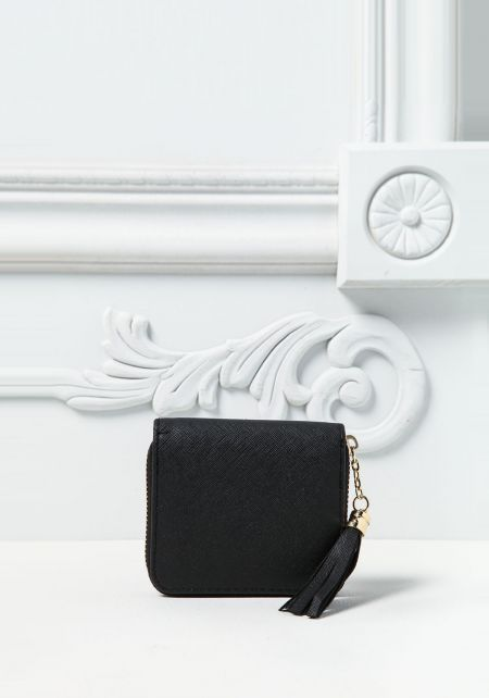 Black Leatherette Mini Wallet