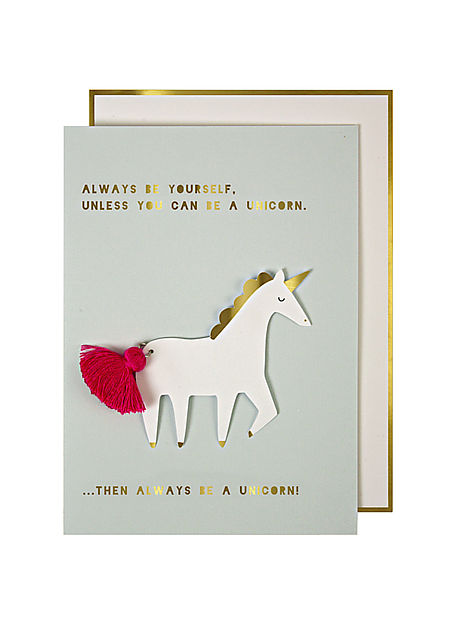 Unicorn with Tassel Greeting Card
