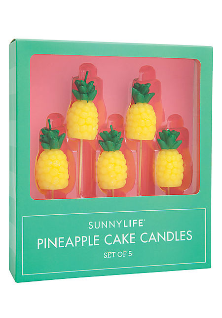 Yellow Pineapple Cake Candles