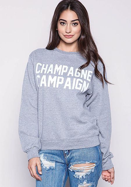 Private Party Champagne Campaign Sweatshirt in Gre