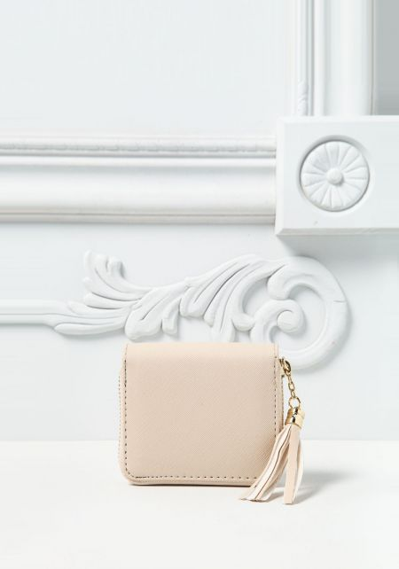 Ivory Leatherette Mini Wallet