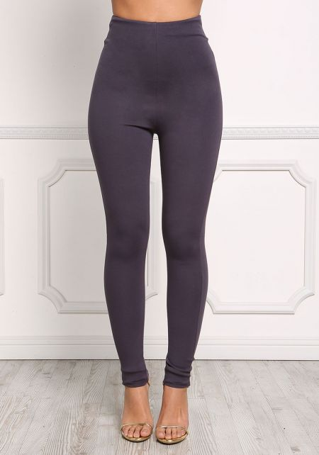 Charcoal High Rise Skinny Pants