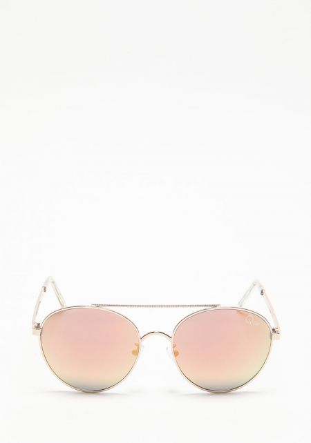 Quay Circus Life Sunglasses in Pink/Gold