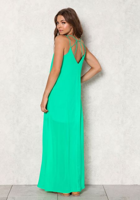 Jade Chiffon Caged Maxi Dress