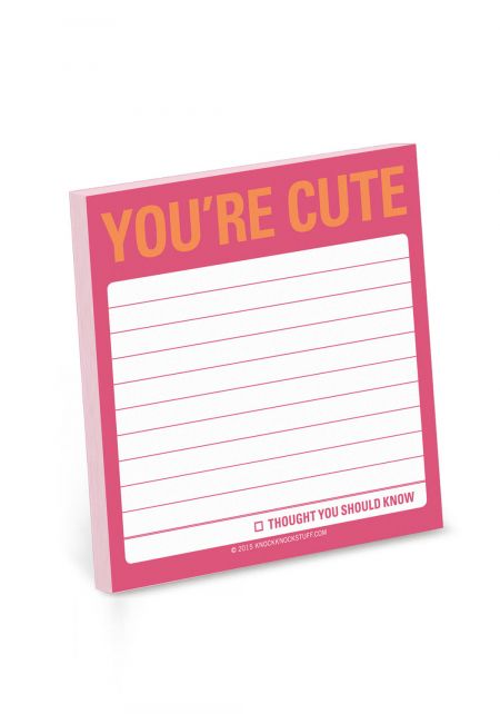 You're Cute Sticky Notes