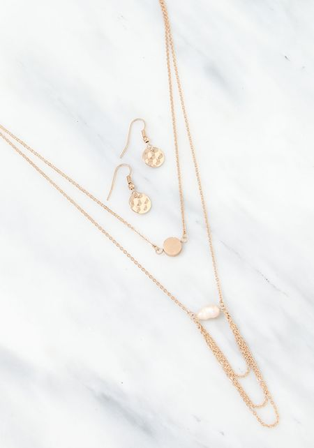 Gold Delicate Layered Chain Necklace