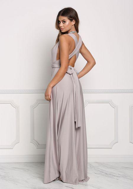 Stone Multi Wrap Maxi Gown