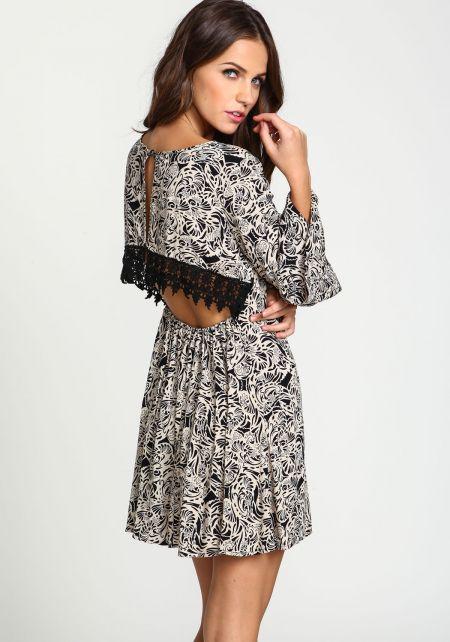 Paisley Crochet Back Cut Out Dress