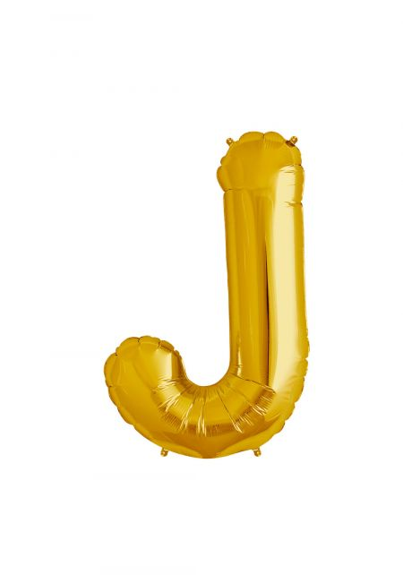 J Xtra Large Gold Foil Balloon