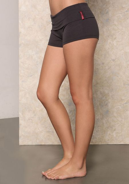 Charcoal Yoga Stretch Shorts