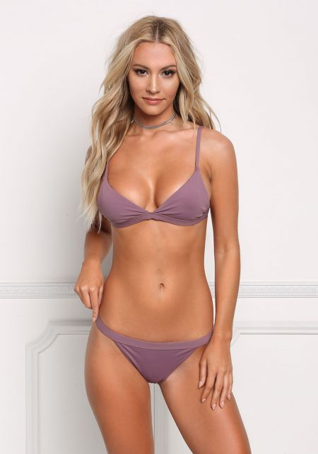 Purple Triangle Swimsuit Bikini Top