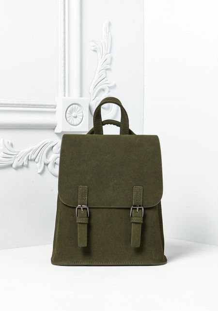 Olive Messenger Backpack