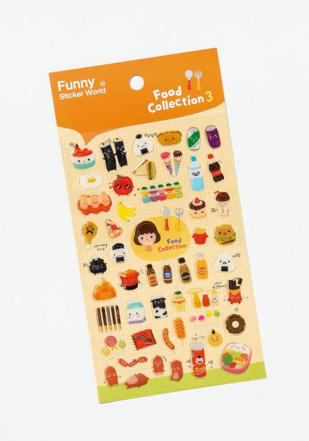 Yellow Food Collection Stickers