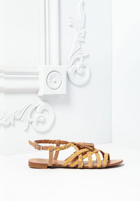 Camel Braided Sandals