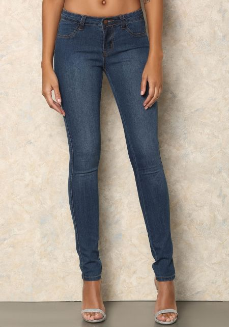 Medium Denim Classic Skinny Jeans