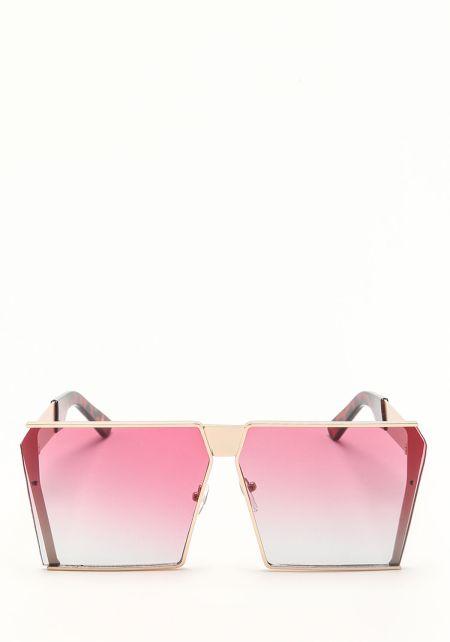 Zero UV Pink Oversize Gradient Square Sunglasses