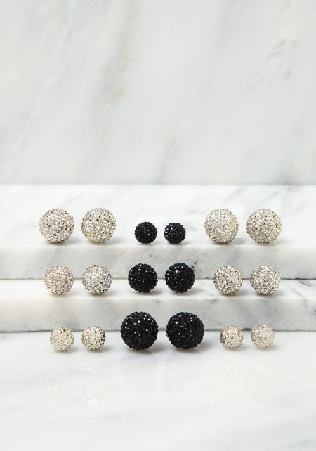 Gold Assorted Stud Earrings Set
