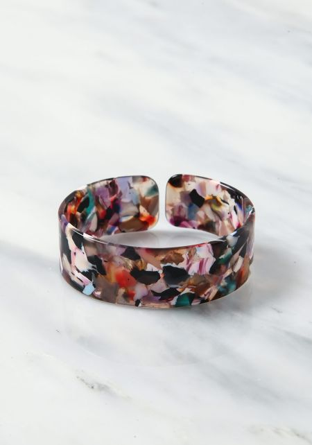 Multi Resin Cuff Bracelet