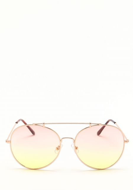 Zero UV Yellow Oversize Gradient Sunglasses
