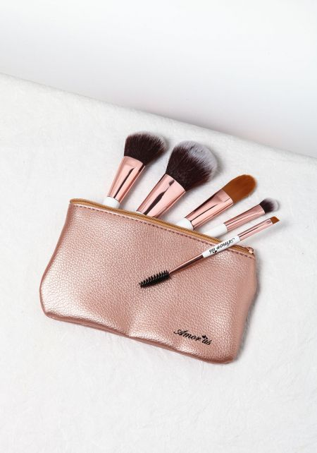 Rose Gold 5 Piece Petite Brush Set
