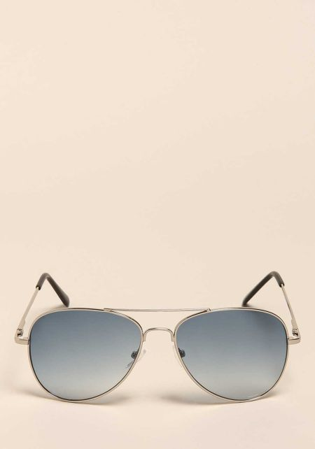 Blue Gradient Aviator Sunglasses