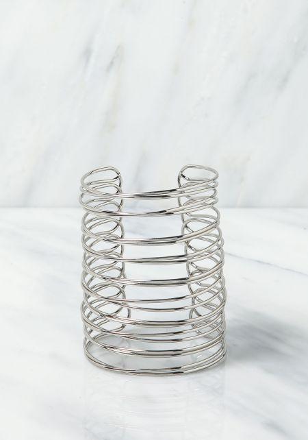 Silver Spiral Cuff Bracelet