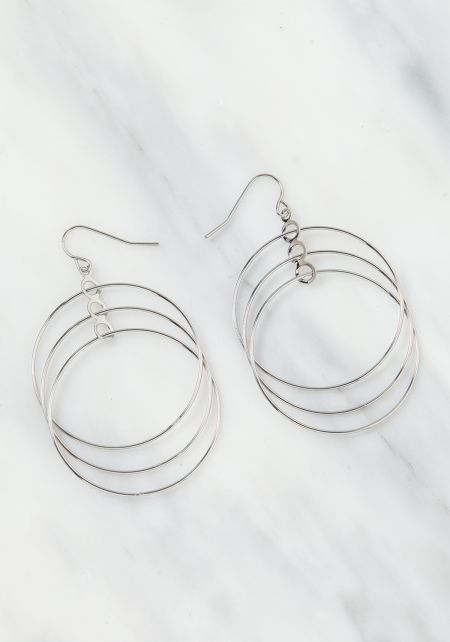 Silver Multi Hoop Earrings