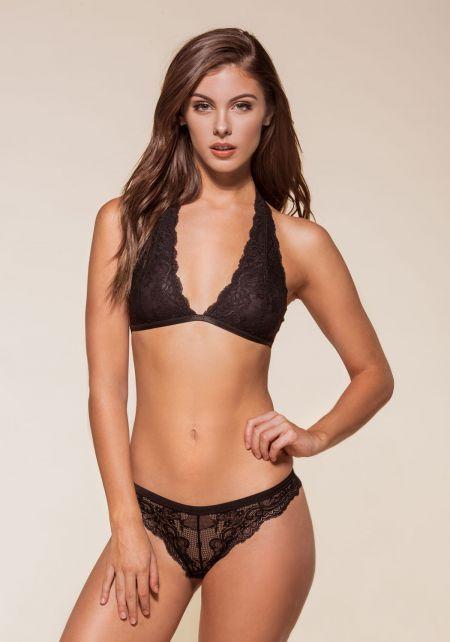 Black Lace Thin Strap Bralette